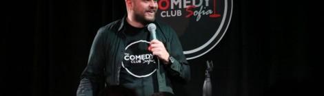 Иван Кирков - основател на Комеди Клуб София и резидент стендъп комедиант.
